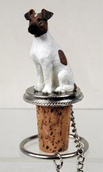Smooth Fox Terrier Bottle Stopper
