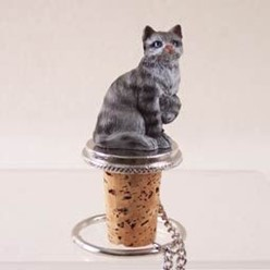 Grey Tabby Bottle Stopper