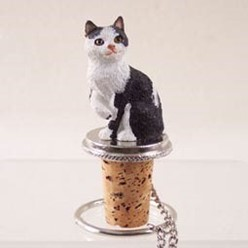 Manx Cat Bottle Stopper