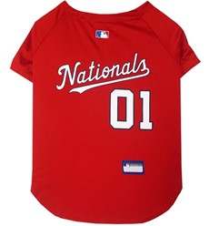 Washington Nationals Pet Baseball Jersey