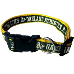 Oakland Athletics Dog MLB Collar