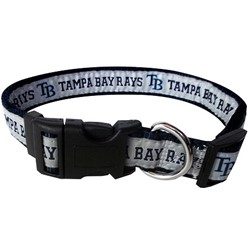 Tampa Bay Rays Dog MLB Collar