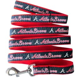 Atlanta Braves MLB Dog Lead