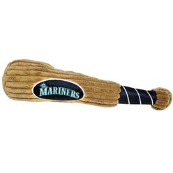 Seattle Mariners MLB Plush Baseball Bat Pet Toy