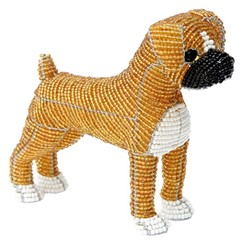 Boxer Beaded Sculpture, Boxer Beauty