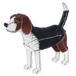 Beagle Beaded Sculpture, Claude the Beagle