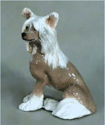 Chinese Crested Ron Hevener Dog Figurine