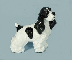 Cocker Spaniel Standing  Ron Hevener Dog Figurine