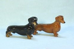 Dachshund Blue Ribbon Dog Figurine