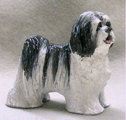 Tibetan Terrier Ron Hevener Blue Ribbon Dog Figurine