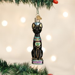 Black Cat Vintage Christmas Ornament
