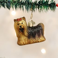Yorkie Old World Christmas Dog Ornament