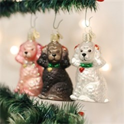 Poodle Vintage Dog Christmas Ornament