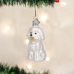 Bichon Frise Vintage Dog Christmas Ornament