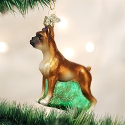 Boxer Vintage Dog Christmas Ornament