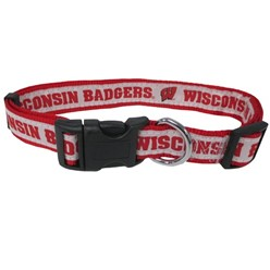 University of Wisconsin Badgers NCAA Dog Collar