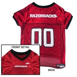 University of Arkansas Razorbacks Pet NCAA  Football Jersey