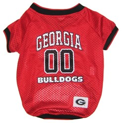 University of Georgia Bulldogs Pet NCAA Football Jersey