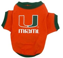 University of Miami Hurricanes Pet NCAA Football Jersey