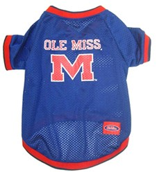 University of Mississippi Ole Miss Rebels Pet NCAA Football Jersey