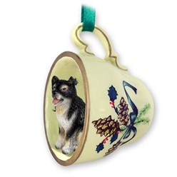Alaskan Malamute Tea Cup Holiday Ornament