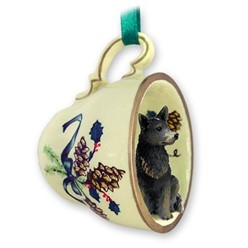 Australian Cattle Dog Tea Cup Holiday Ornament- click for more breed colors