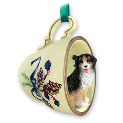 Bernese Mountain Dog Tea Cup Holiday Ornament