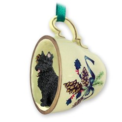 Bouvier Tea Cup Holiday Ornament