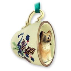 Briard Tea Cup Holiday Ornament