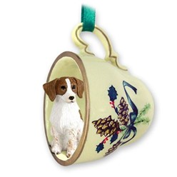 Brittany Tea Cup Holiday Ornament