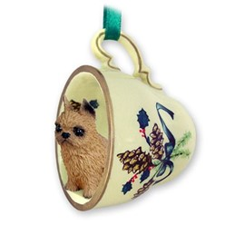 Brussels Griffon Tea Cup Holiday Ornament
