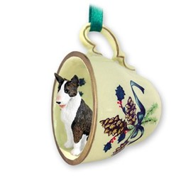 Bull Terrier Tea Cup Holiday Ornament