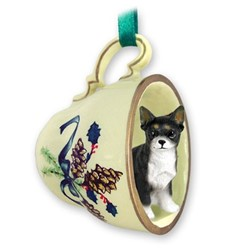 Chihuahua Tea Cup Holiday Ornament