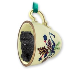 Chow Tea Cup Holiday Ornament
