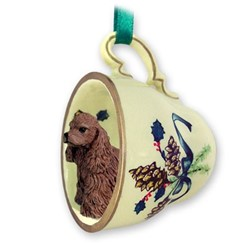 Cocker Spaniel Tea Cup Holiday Ornament