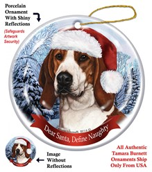Treeing Walker Coonhound Dear Santa Dog Christmas Ornament