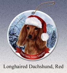 Dachshund Dear Santa Dog Christmas Ornament