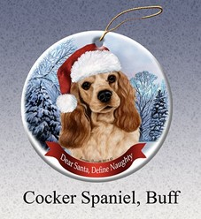 Cocker Spaniel Dear Santa Dog Christmas Ornament