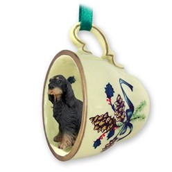 Gordon Setter Tea Cup Holiday Ornament