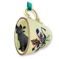 Great Dane Tea Cup Holiday Ornament