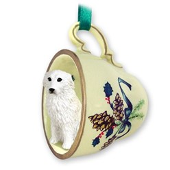 Great Pyrenees Tea Cup Holiday Ornament