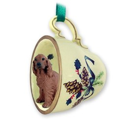 Irish Setter Tea Cup Holiday Ornament
