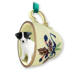 Jack Russell Tea Cup Holiday Ornament