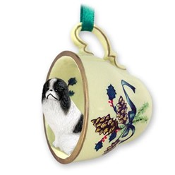 Japanese Chin Tea Cup Holiday Ornament