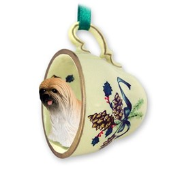 Lhasa Apso Tea Cup Holiday Ornament