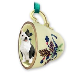 Pit Bull Tea Cup Holiday Ornament