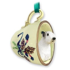 Sealyham Terrier Tea Cup Holiday Ornament