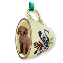 Vizsla Tea Cup Holiday Ornament