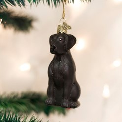 Black Lab Vintage Dog Christmas Ornament