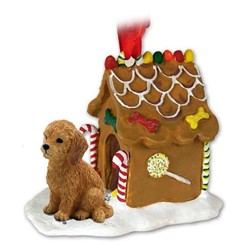 Goldendoodle Gingerbread Christmas Ornament